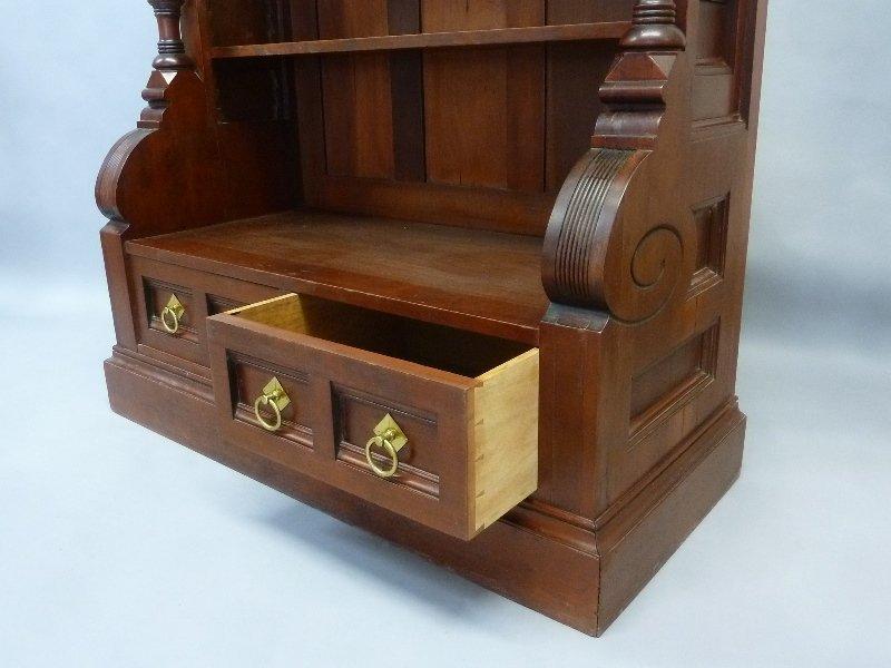 Superb Circa 1870's  Cherry American Small Bookcase/ - 4