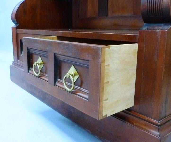 Superb Circa 1870's  Cherry American Small Bookcase/ - 5