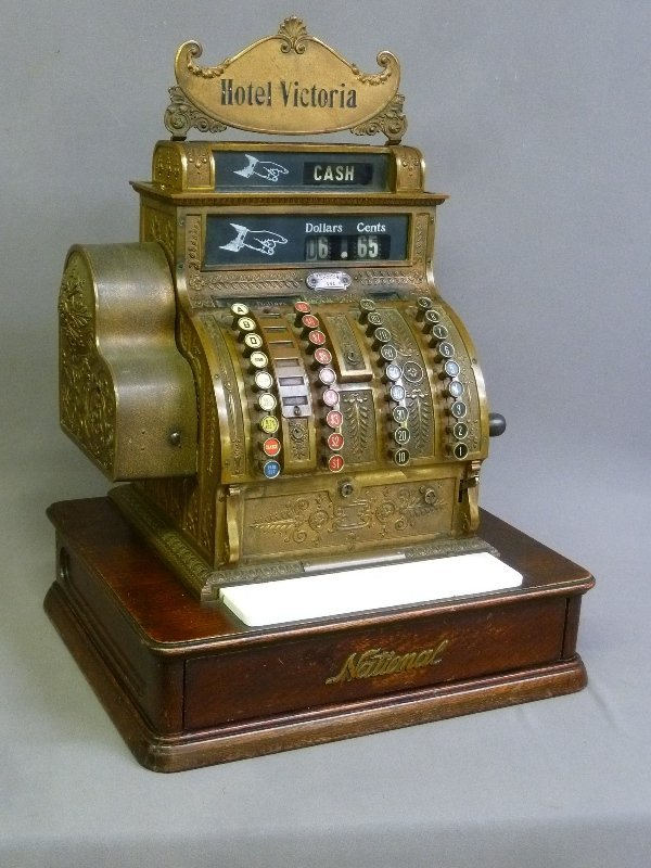 Dated March 1914 Brass National Cash register with