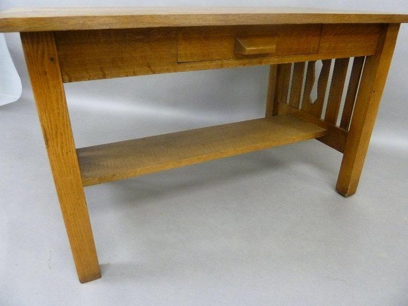 Circa 1915 American Solid 1/4 cut Oak Arts and Crafts - 4