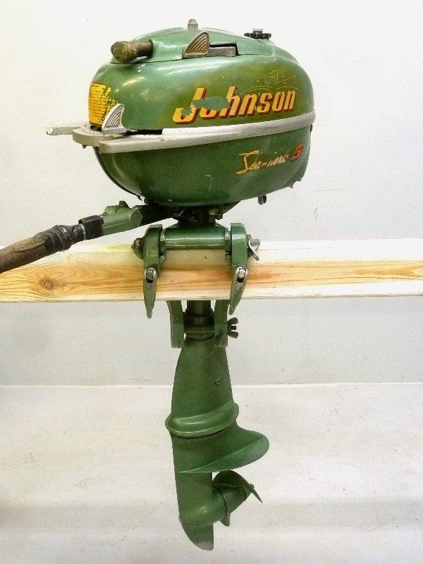 1950 or 1951 Johnson 5 HP Sea Horse Outboard Motor - - 2