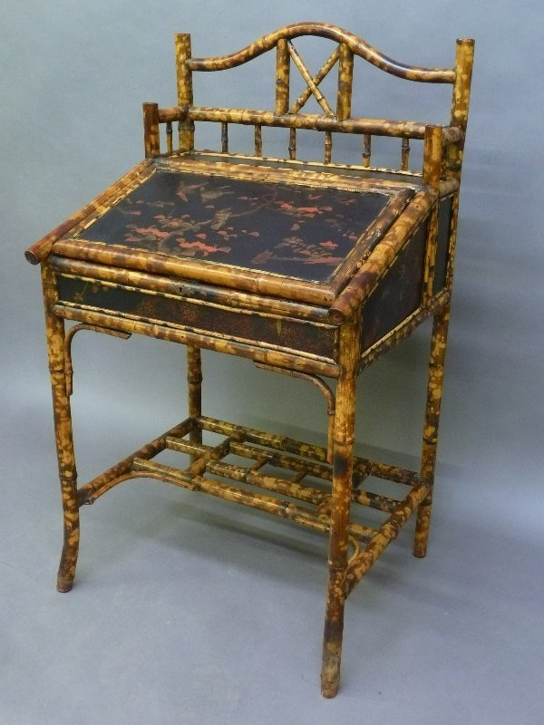 Circa 1910 Unsual decorated Bamboo Desk - Very good