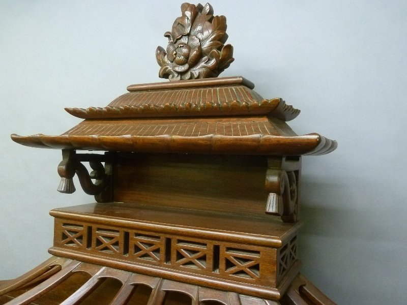 Early 20th Century Chinese Mahogany Design Display - 4