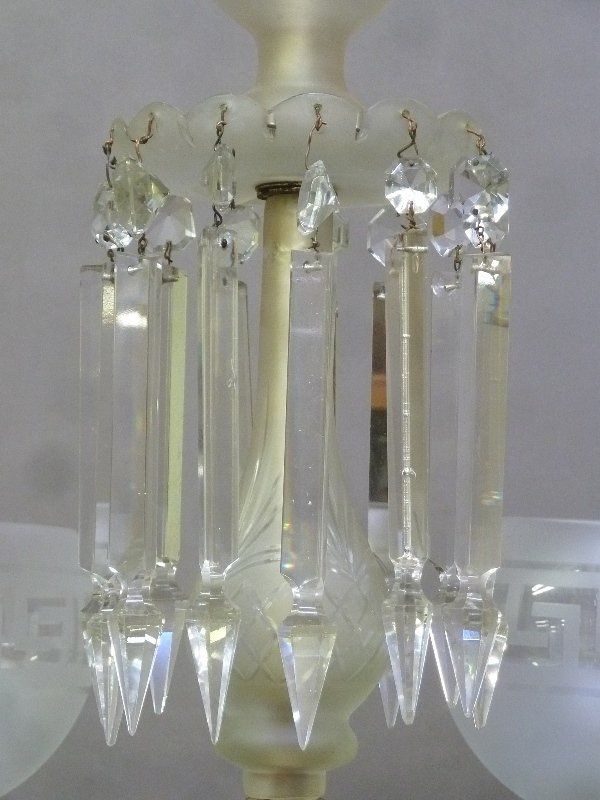 Late 19th/Early 20th Century Cut Glass 6 Arm Chandelier - 5