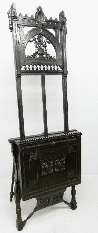 19th Century Amercan Aesthetic Movement Black Laquer
