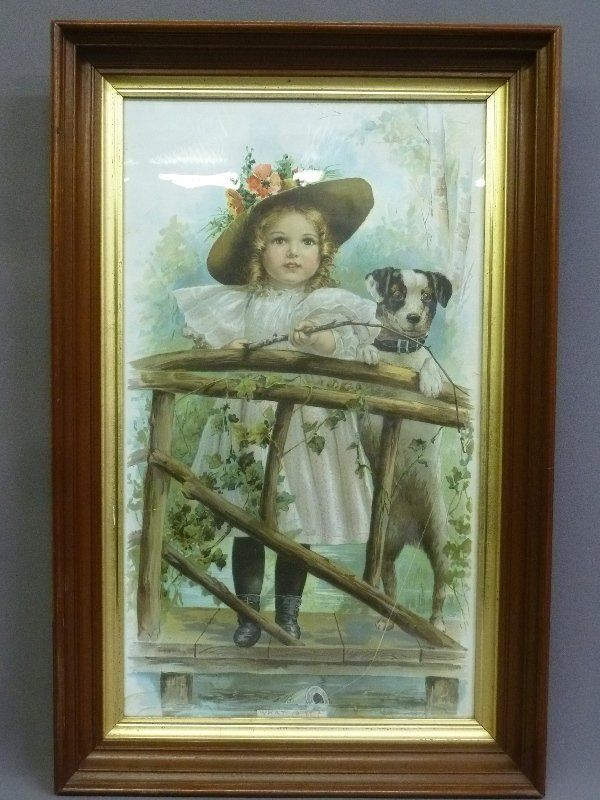 Circa 1890's Antique Color Print (Titled- What is it?)