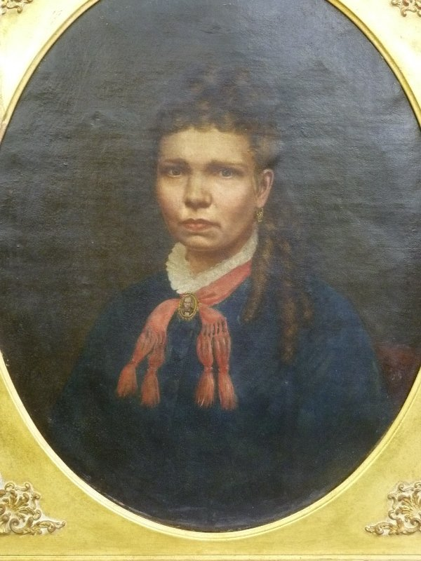 Dated 1875 Oval Oil on Canvas of a Southern Croele - 2