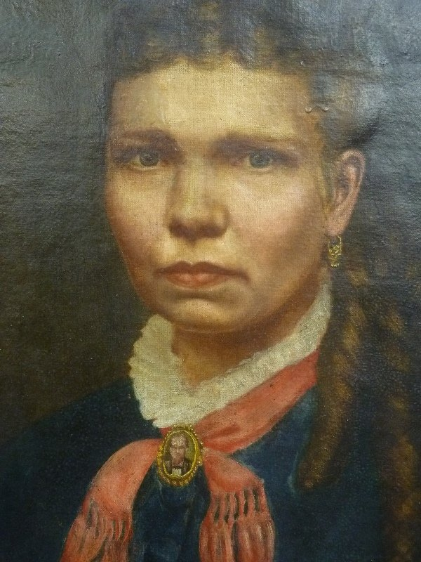 Dated 1875 Oval Oil on Canvas of a Southern Croele - 3