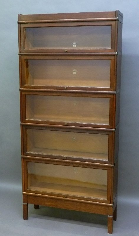 Signed (Macy) 1/4 Cut Oak 5 High Stacking Bookcase in