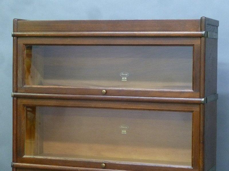 Signed (Macy) 1/4 Cut Oak 5 High Stacking Bookcase in - 2