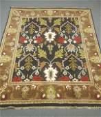 Hand Tied Oriental (Indo-Persian) rug in Brown, black,