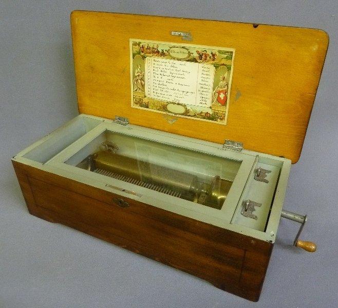 Circa 1880's 12 Tune Signed Swiss Music Box dated 1894