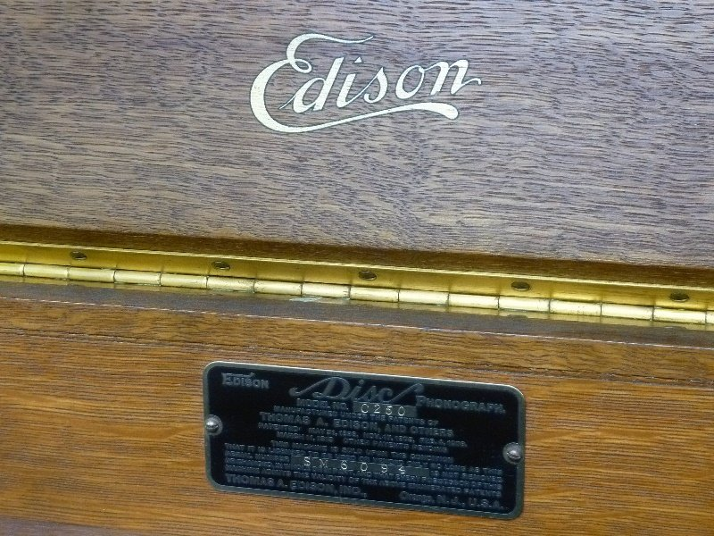 Signed Edison Model C250 Disk Phonograph dated - 4