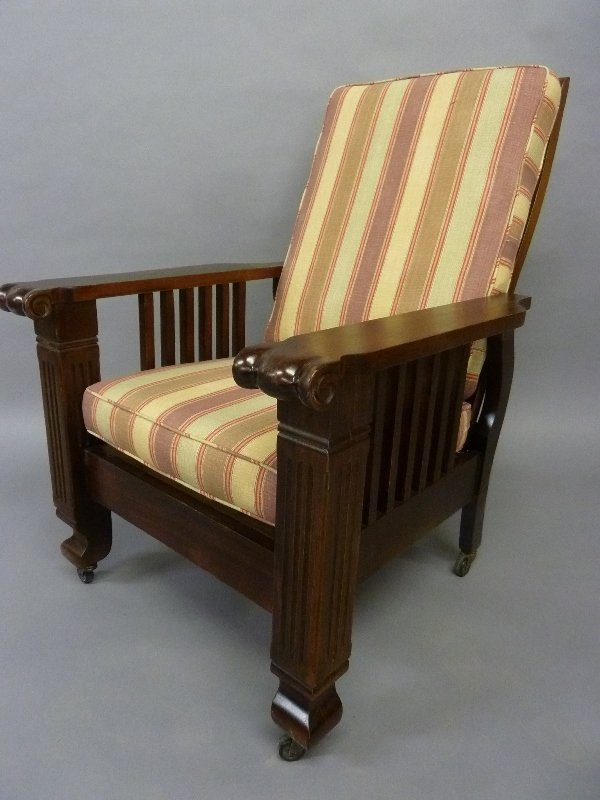 Dated 1900 American Adjusting Morris Chair with New