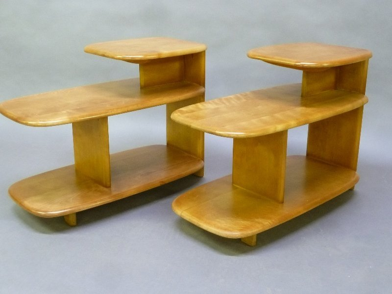 Circa 1950's Heywood Wakefield  Wooden End Tables -