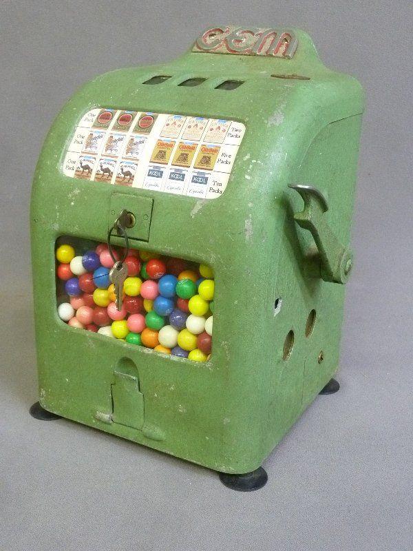 Circa 1936 Gem Trade Stimulator. Ball Gum Vendor.