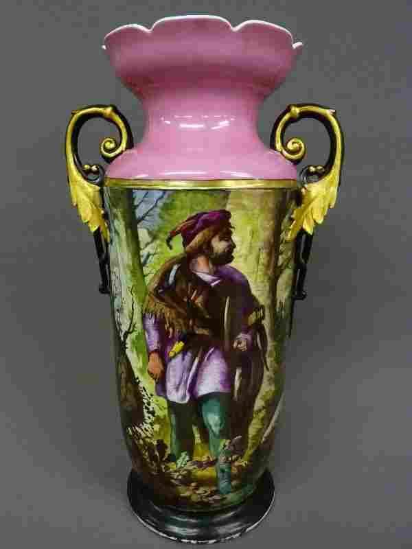 """19th Century Massive 21.5"""" Old Paris Porcelain Vase"""