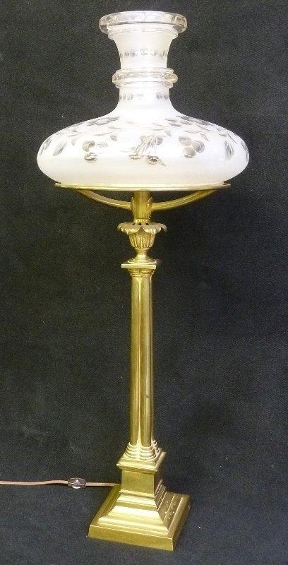 Period Circa 1840's Astral Lamp with Original Oil Tank