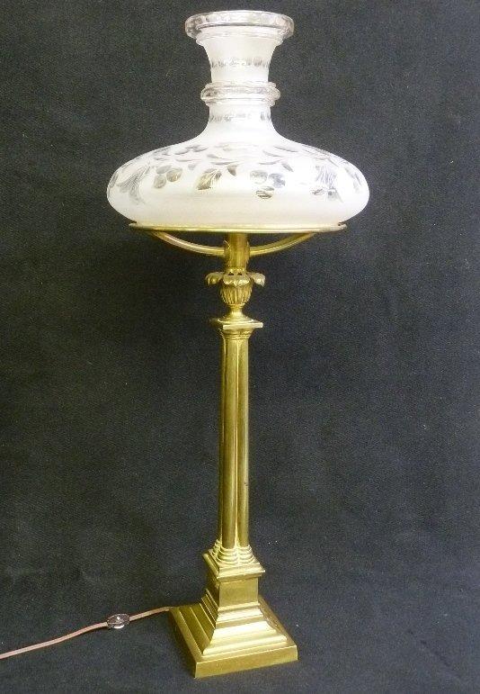 Period Circa 1840's Astral Lamp with Original Oil Tank - 2