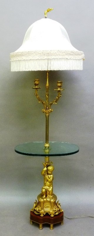 Circa 1860's Signed (H.Picard). Lamp with a gilt bronze
