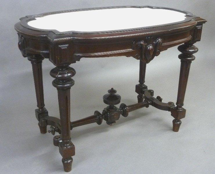 Circa 1875 American Marble Top Renaissance Revival Burl - 2