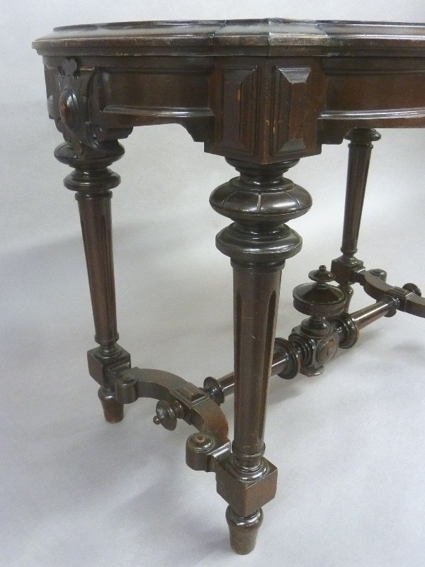 Circa 1875 American Marble Top Renaissance Revival Burl - 3