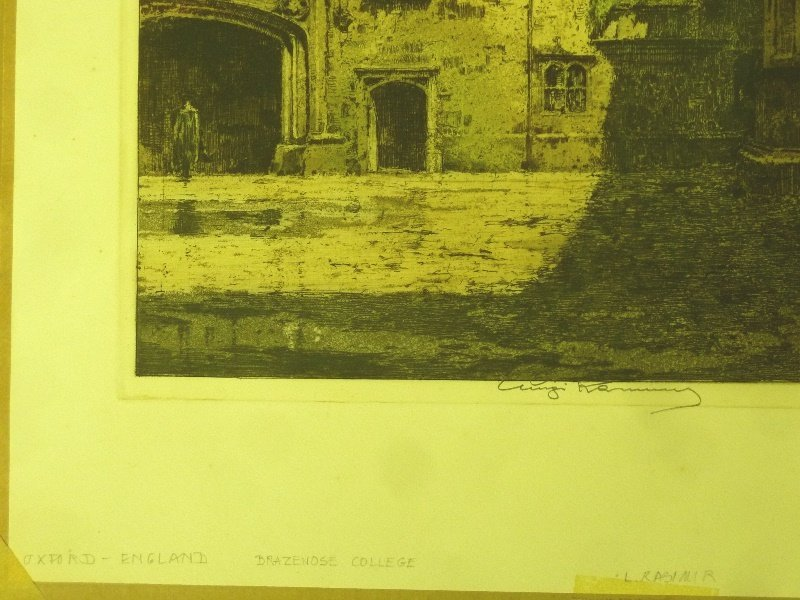 Signed Luigi Kasimir  Color Etching (1881-1962) marked - 3
