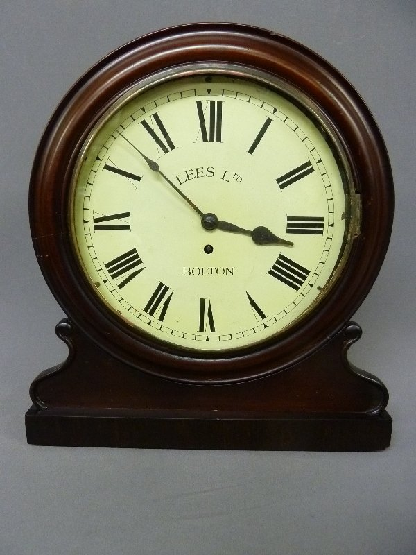 Circa 1850's English Fusee Shelf Clock signed Made in