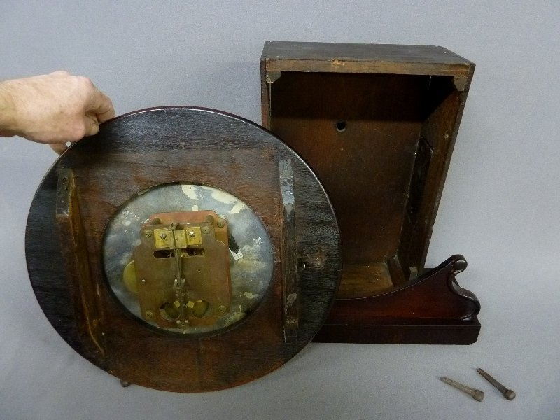 Circa 1850's English Fusee Shelf Clock signed Made in - 5