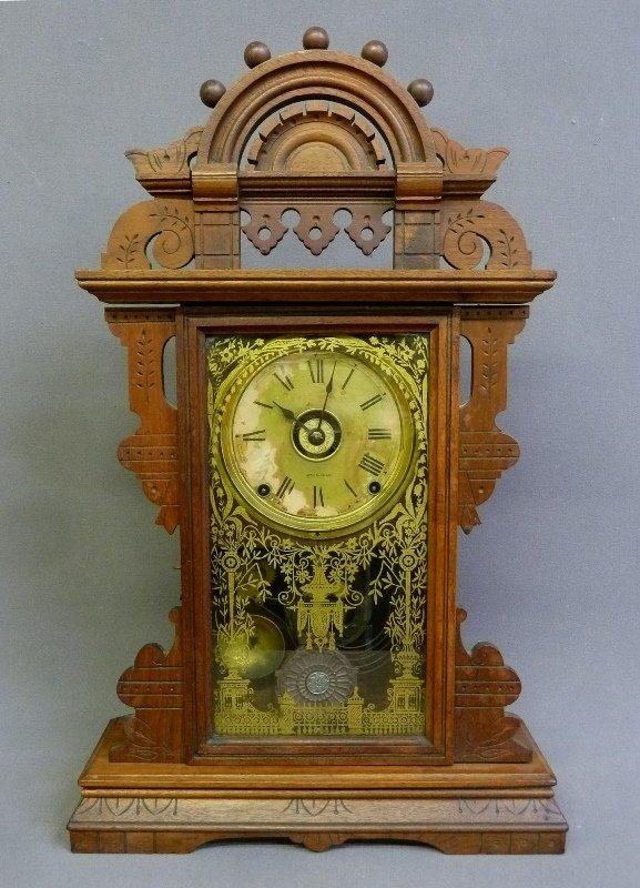 Circa 1880 Signed Seth Thomas Walnut Shelf Clock marked