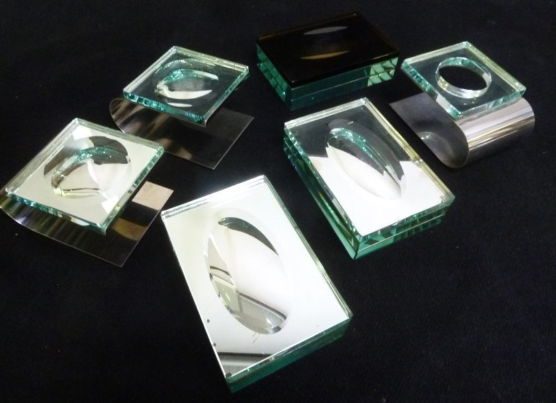 5 pcs.  Unique Glass & Mirrored Glass & Metal. All from - 2