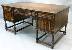 Circa 1829s Carved  Inlaid Walnut Desk  Finish and