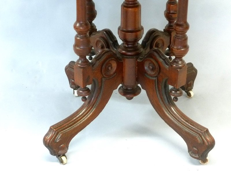 Circa 1860's Walnut Oval Wood Top Parlor Table with - 3
