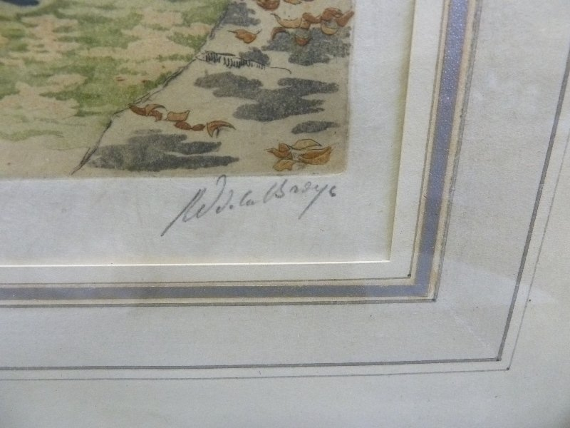 Two 1930's Color Etchings Pencil signed on right  by - 5