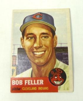 1953 Topps Bob Feller Card