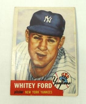 1953 Topps Whitey Ford Card