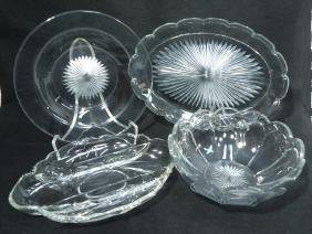 4pcs Heisey Glass
