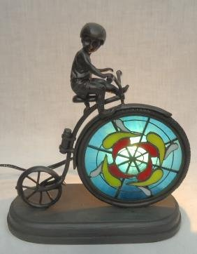 Modern Art Glass Bicycle Lamp