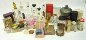 Lg Lot of Perfume Bottles & Accessories