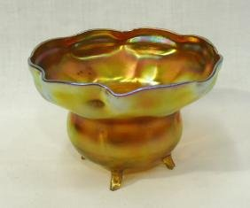 Tiffany Favrile Footed Bowl