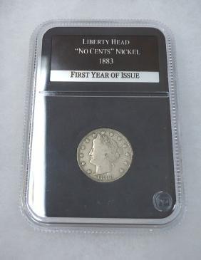 "1883 Liberty Head ""No Cents"" Nickel"