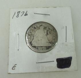 1876 Seated Quarter