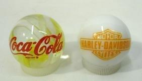 Harley Davidson & Coca Cola Marbles