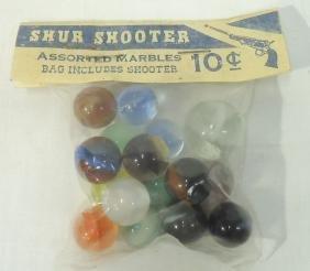 """Pkg """"Shur Shooter"""" Marbles"""
