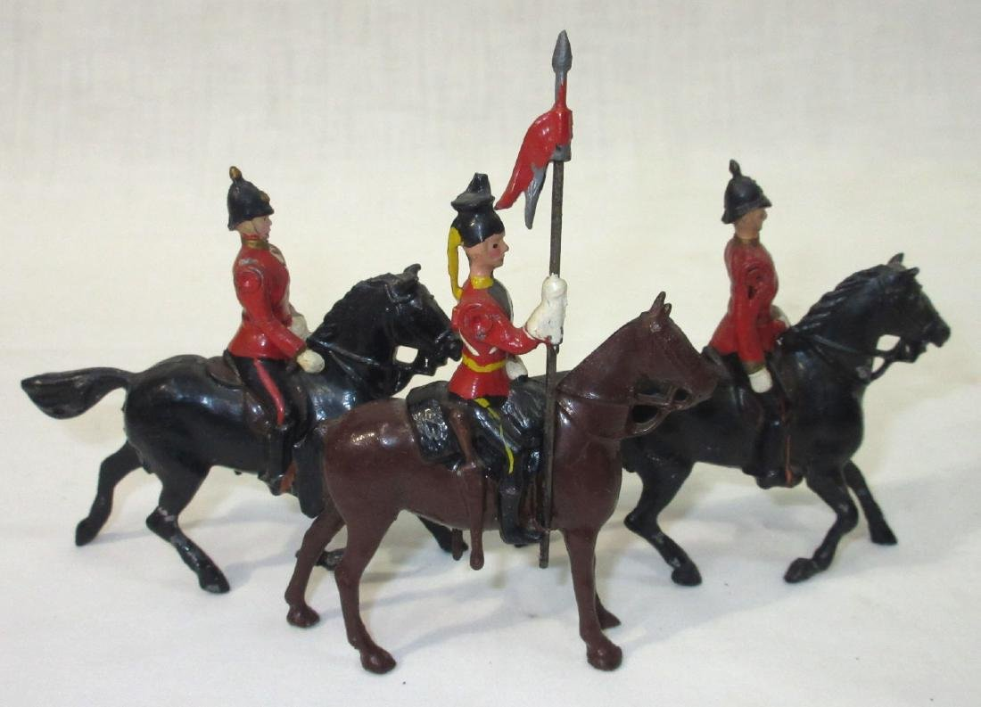 3 Lead Soldiers on Horseback
