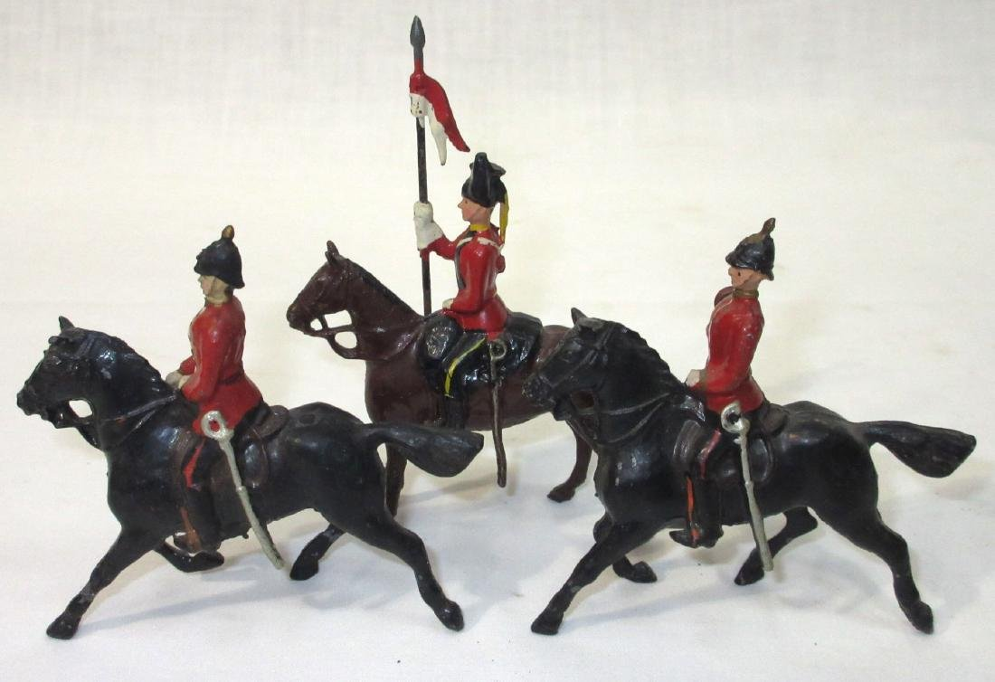3 Lead Soldiers on Horseback - 2