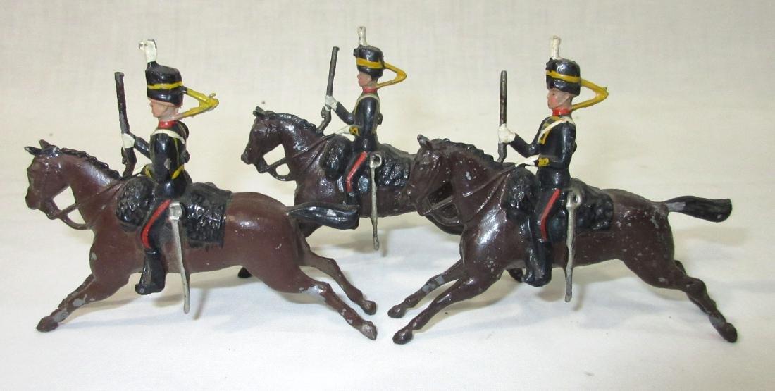 3 Lead Soldiers on Horseback