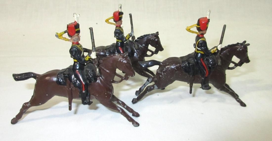 3 Lead Soldiers on Horseback - 2