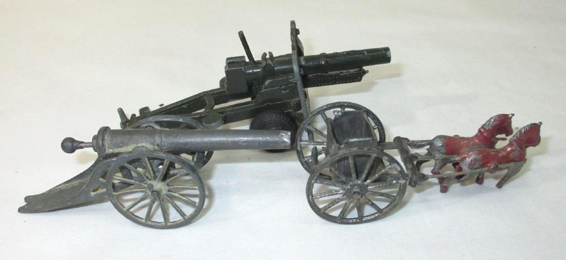 2 Toy Cannons & Horse Drawn Cart