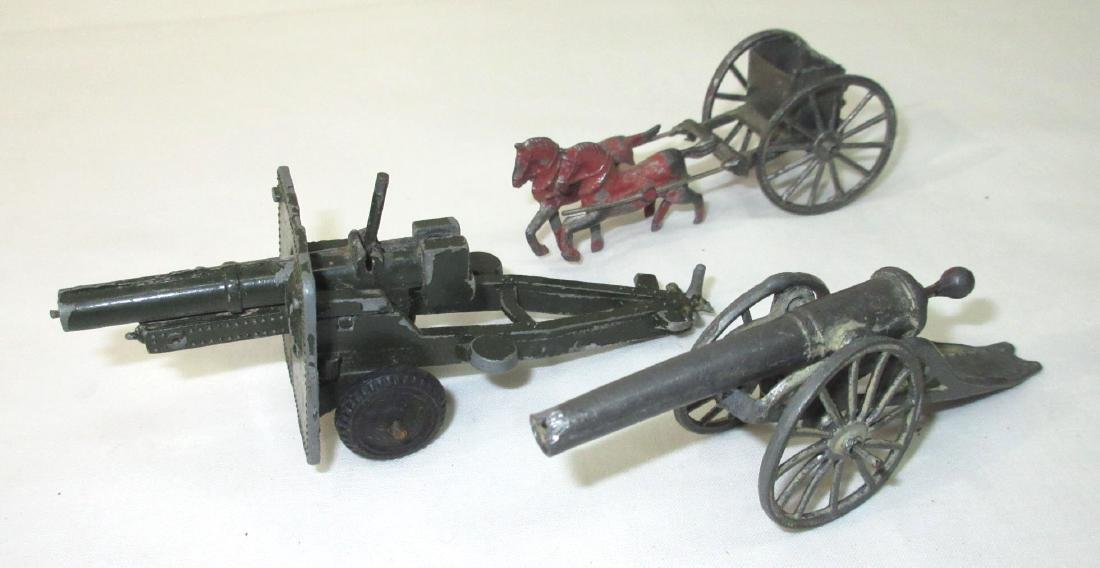 2 Toy Cannons & Horse Drawn Cart - 2